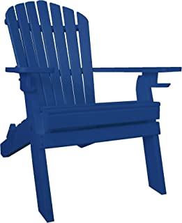 product image for Furniture Barn USA 7 Slat Poly Lumber Wood Folding Adirondack Chair - Blue