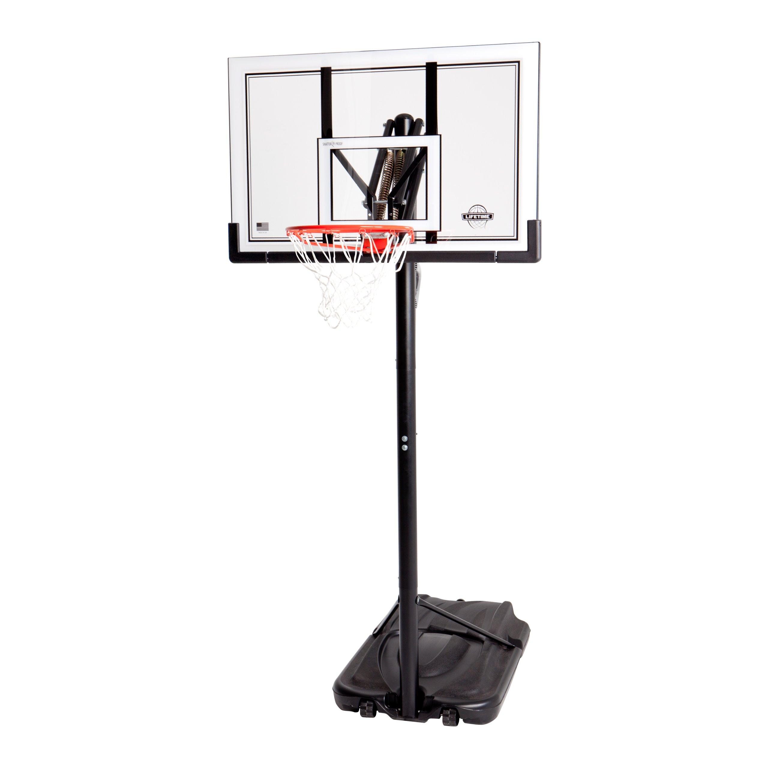 Lifetime 90176 Portable Basketball System, 52 Inch Shatterproof Backboard by Lifetime