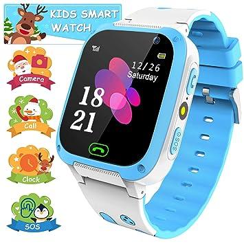 YENISEY Smartwatch Niños - Reloj Inteligente para Niña con LBS Rastreador, Flashlight,SOS,Cámara,Juegos, Despertador, Llamada, Regalo Niños Niña 3-12 ...