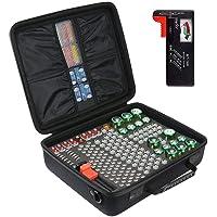 Khanka Harde batterij Case Opbergdoos Draagtas - Houdt 178 batterijen AA AAA C D 9V - Past D-FantiX digitale batterij…