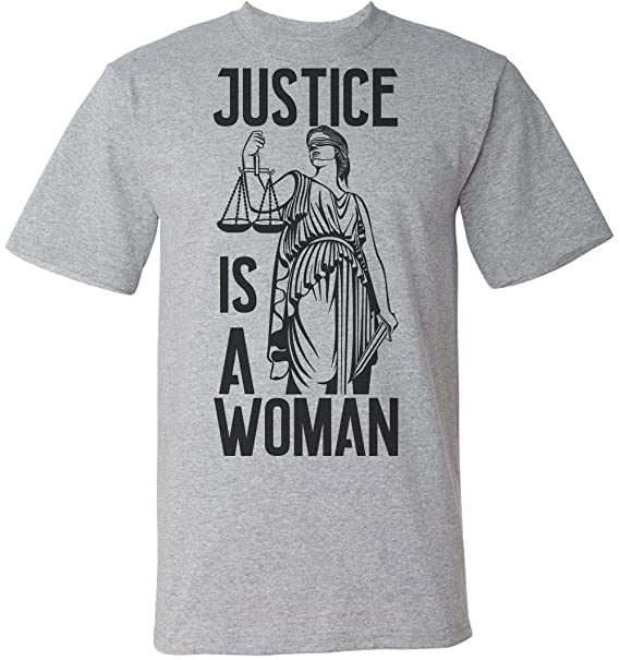 d8aebebae Justice Is A Woman Lady Justitia Men's T-Shirt | Amazon.com