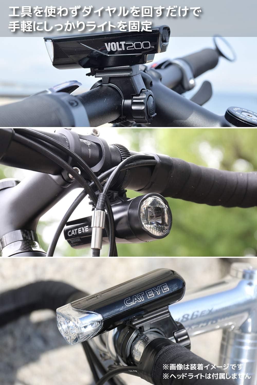 Bike Light Mount Cateye H34 Bracket Lock Ring Black