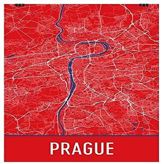 Prag Karte Tschechien.Moderne Karte Art Prag Poster Prag Kunstdruck Prag Wandkunst Prag