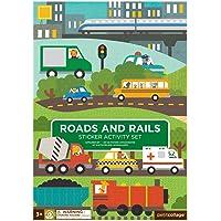 Petit Collage Sticker Activity Set, Roads & Rails