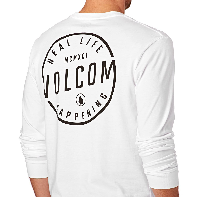 Volcom Long Sleeve T-shirts - Volcom On Lock BSC Long Sleeve T-Shirt - White:  Volcom: Amazon.de: Bekleidung