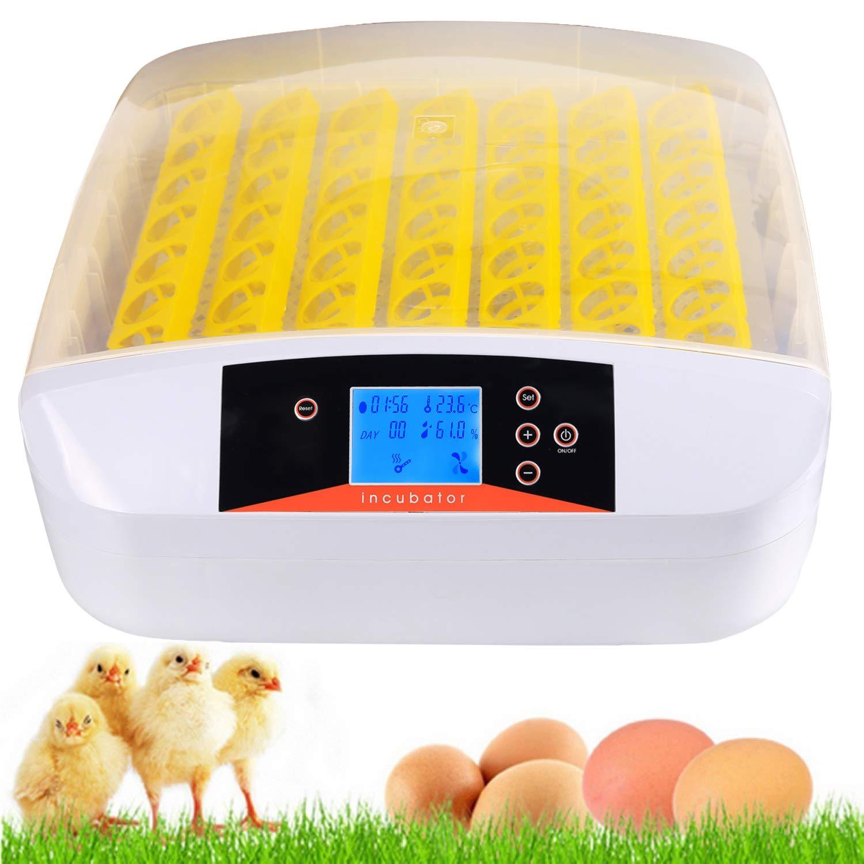 Currens 56 Egg Incubator with Eggs Turner,Digital Automatic Incubators for Hatching Chicken Duck Quail Birds Eggs Poultry Hatcher,Encubadora De Huevos