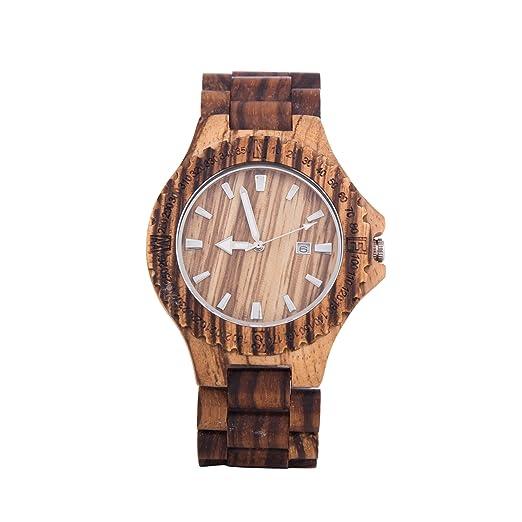 d6676f2434f1 kenon - Reloj de madera marrón Zebra Japón Miyota movimiento Sony  recargable  KENON  Amazon.es  Relojes