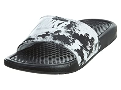 Nike Women s Benassi Just Do It. Sandal  618919-006 (6) Black 1f887d767f