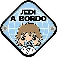 Cartel madera Bebé a bordo. Jedi a bordo.