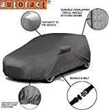 Autofact Honda City Idtech (2014 to 2018) Car Accessories - Car Body Cover with Mirror Pockets (Triple Stitched, Bottom Fully Elastic, Dark Grey)