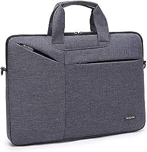 حقيبة لابتوب على الكتف متوافقة مع أجهزة اللابتوب التي يصل حجمها الى 15.6 انش اللون رمادي