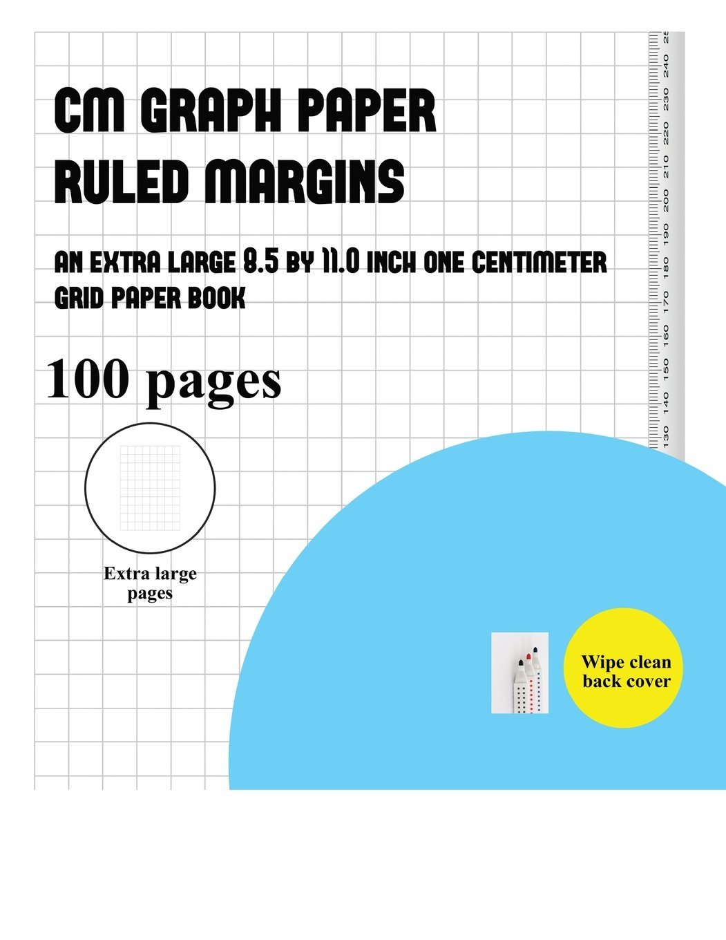 cm graph paper ruled margins an extra large 8 5 by 11 0 inch