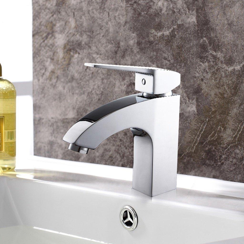 Alle Bronze Galvanotechnik Einzelnes Loch Einzelhandgriff Heißes und Kaltes Wasser Regulierung Quadratischer Hahn Badezimmer liefert
