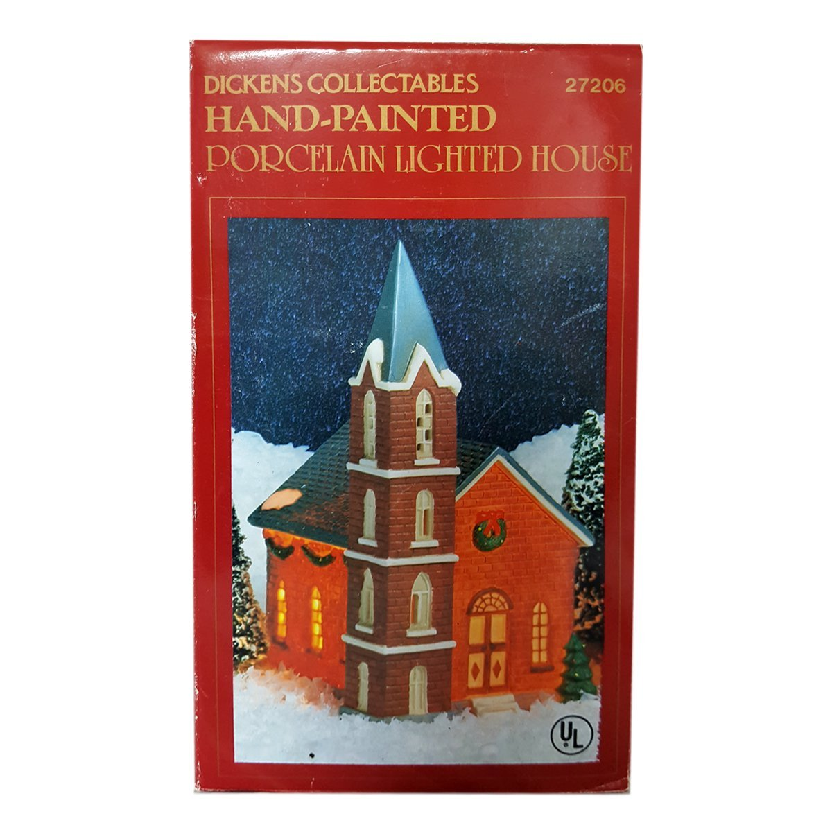 Dickens Collectibles Hand-Painted Porcelain Lighted Church