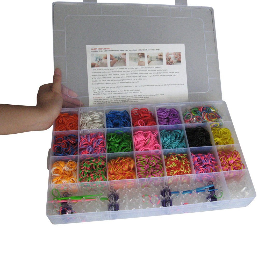 Ateam Loom Bandz Kit & Clips Collection with 4200 Bandz