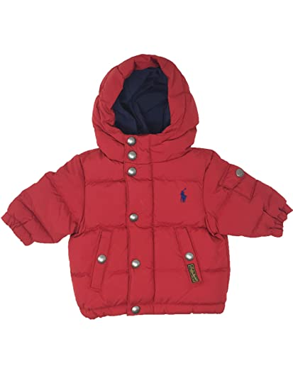 782a7412a Amazon.com  Ralph Lauren Jewel Red Down Feather Infant Jacket (3 ...