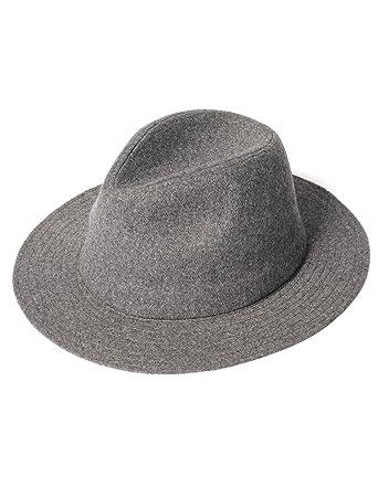 82643797cad258 Amazon | [REPIDO (リピード)] つば広ハット メンズ つば広 中折れ ハット 帽子 グレー Free | ハット 通販