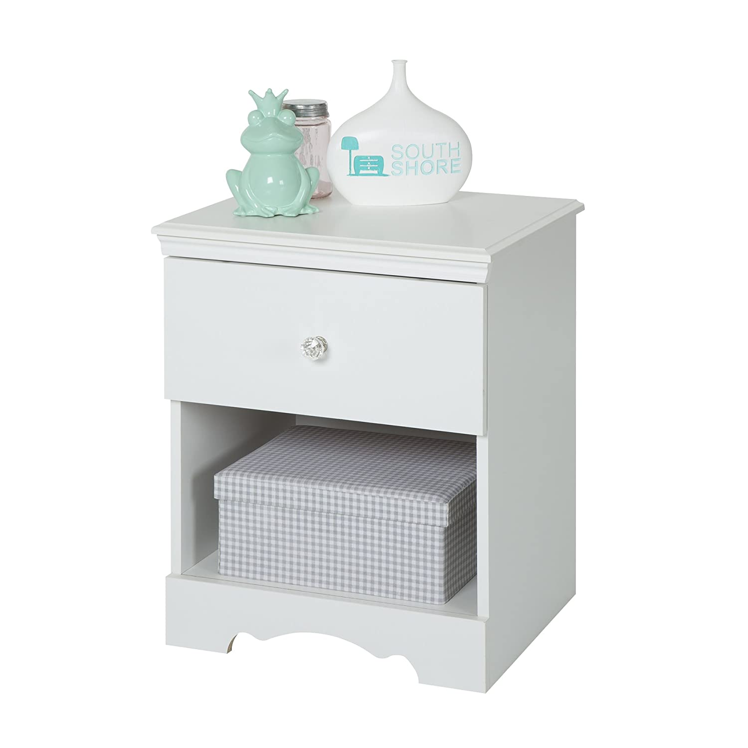 Amazon.com: South Shore Furniture, Crystal Collection, Night Table, Pure  White: Kitchen U0026 Dining