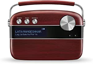 Saregama Carvaan Portable Digital Music Player (Cherrywood Red)