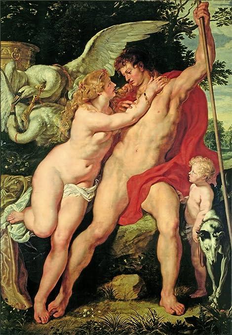 Peter Paul Rubens Venere e Adone C1610 Riproduzione su carta lucida Low  poster A3 200 gsm: Amazon.it: Casa e cucina