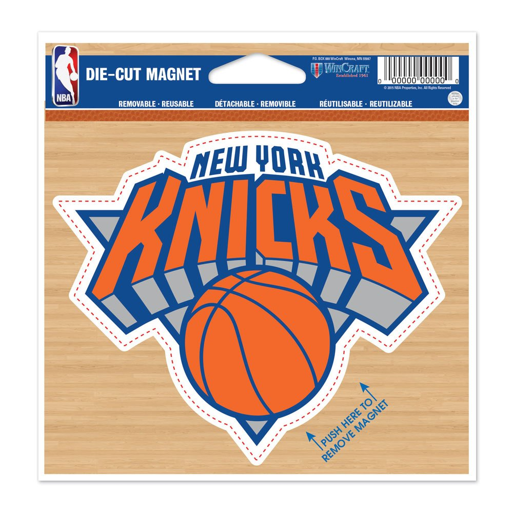 WinCraft New York Knicks Official NBA 4.5 inch x 6 inch Car Magnet by 294180
