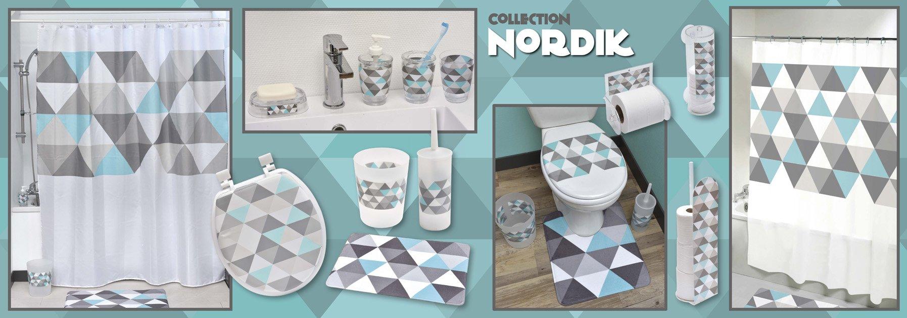 EVIDECO Nordik Printed Floor Trash Can Bin Waste Basket 4.5-Liters/1.2-Gal, Multicolor