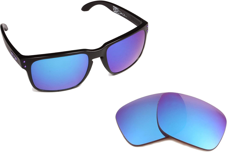 e2b7844a666 Best SEEK OPTICS Replacement Lenses Oakley HOLBROOK - Polarized Blue Mirror   Amazon.com.au  Fashion