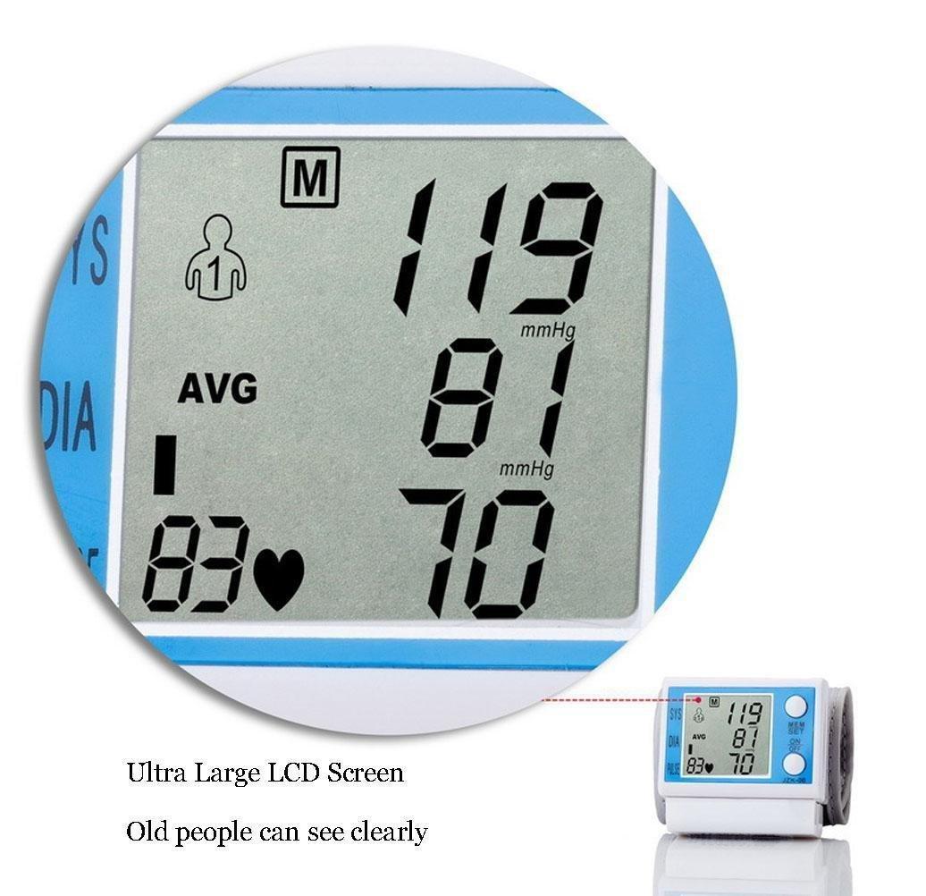 D&F TensióMetro De Brazo Monitor AutomáTico De MuñEca Inteligente Dispositivo De MedicióN De PresióN Arterial Digital LCD: Amazon.es: Deportes y aire libre