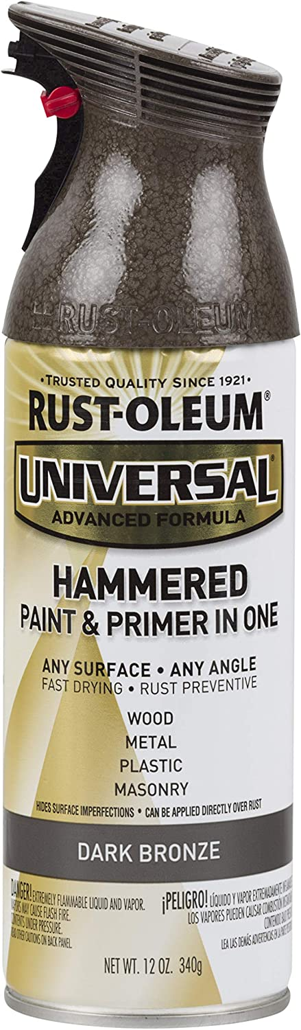 Rust-Oleum 258199 Surface, 12 oz, Dark Bronze Universal Hammered Spray Paint