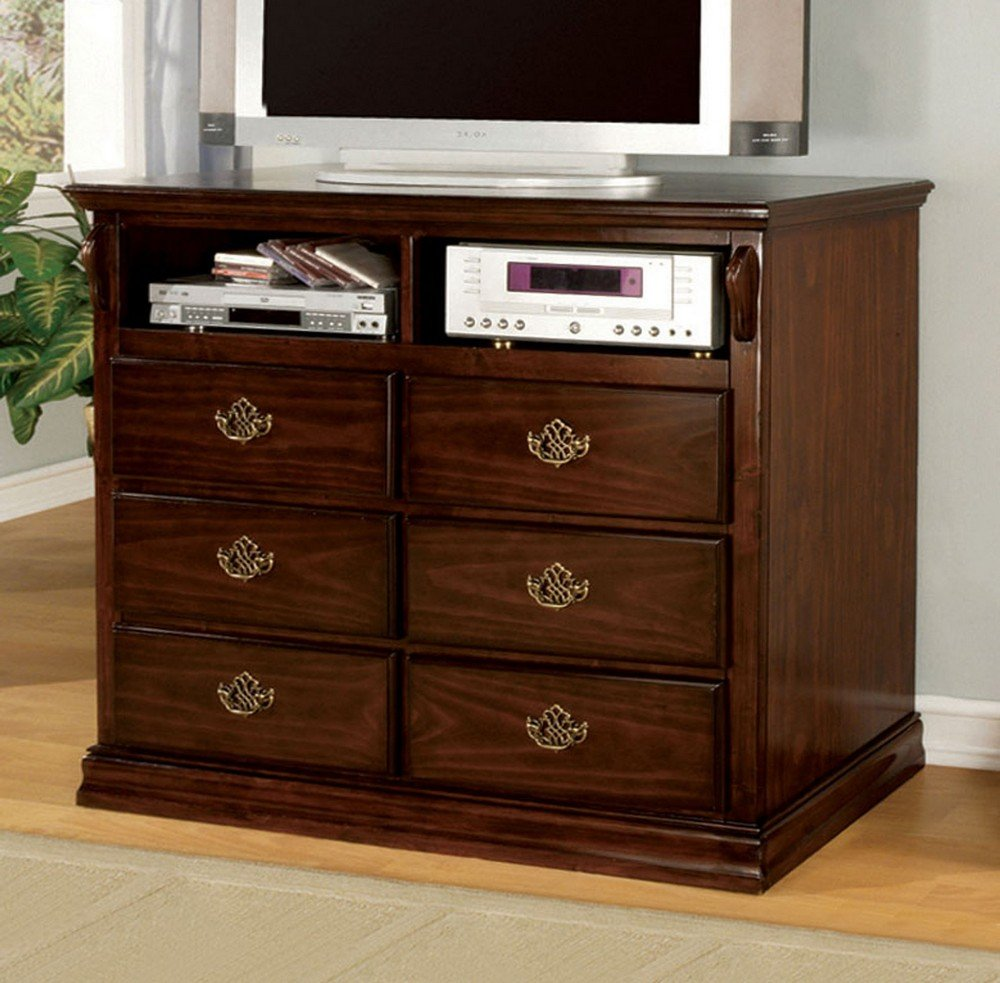 Media Chest in Dark Pine Finish by Furniture of America by Furniture of America