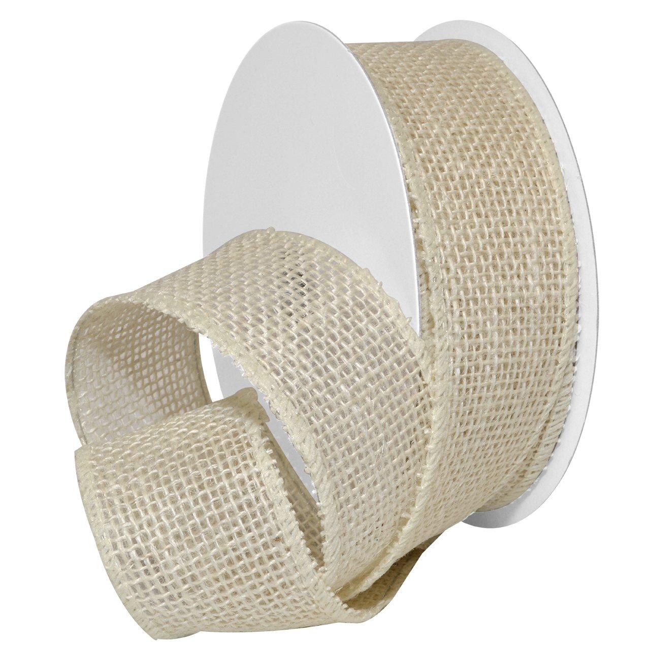 Morex Ribbon Burlap Wired Ribbon, 2-1/2-Inch by 10-Yard Spool, Orange 1252.60/10-620