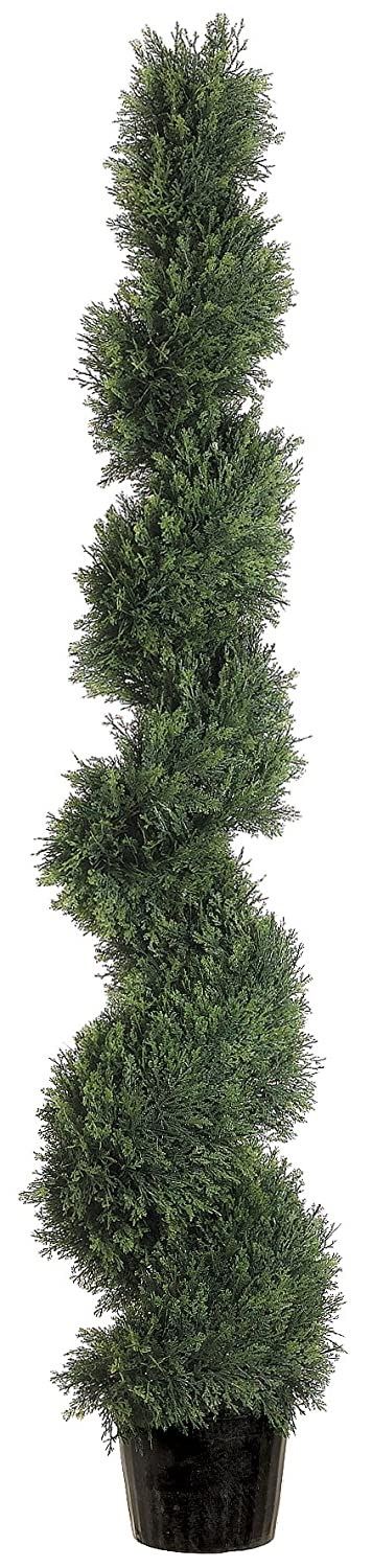 Silk Decor 5-Feet Spiral Cedar Topiary Plant, Green Allstate Floral & Craft Inc. LPC815-GR