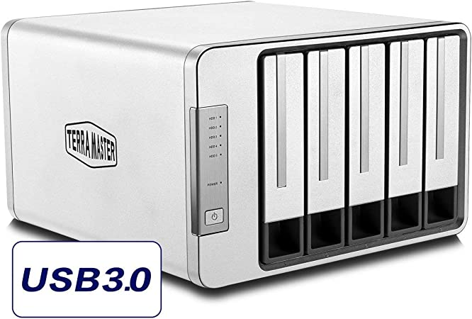 sans Disque 5Gbps Type C 5-Bay Bo/îtier Raid Support Raid 0//1//Unique Exclusif 2+3 Raid Mode Disque Dur Raid Stockage TERRAMASTER D5-300C USB3.0