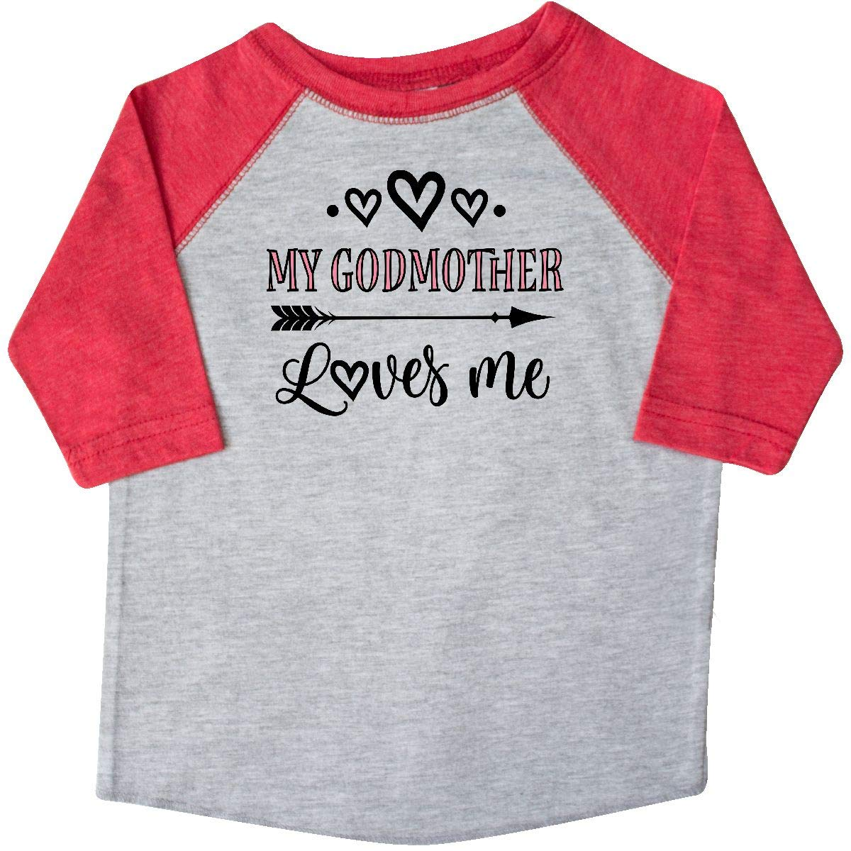 inktastic My Godmother Loves Me Girls Toddler T-Shirt
