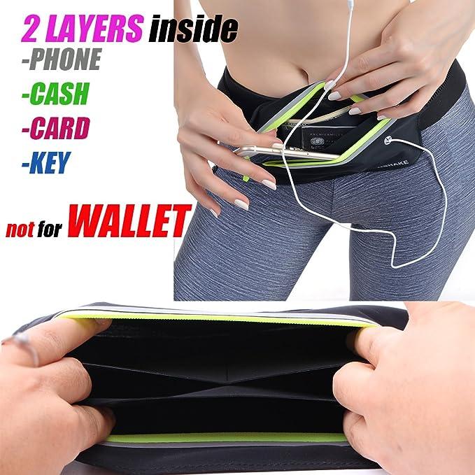 UShake Slim Running Belt Exercise Waist Bag set of 2