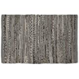 """DII Home Essentials Rag Rug for Kitchen, Bathroom, Entry Way, Laundry Room and Bedroom, 20 x 31.5"""", Gray"""