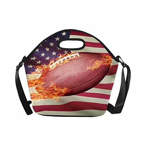 ac9ed8762084 Amazon.com: InterestPrint Bright Flamy American Football on United ...