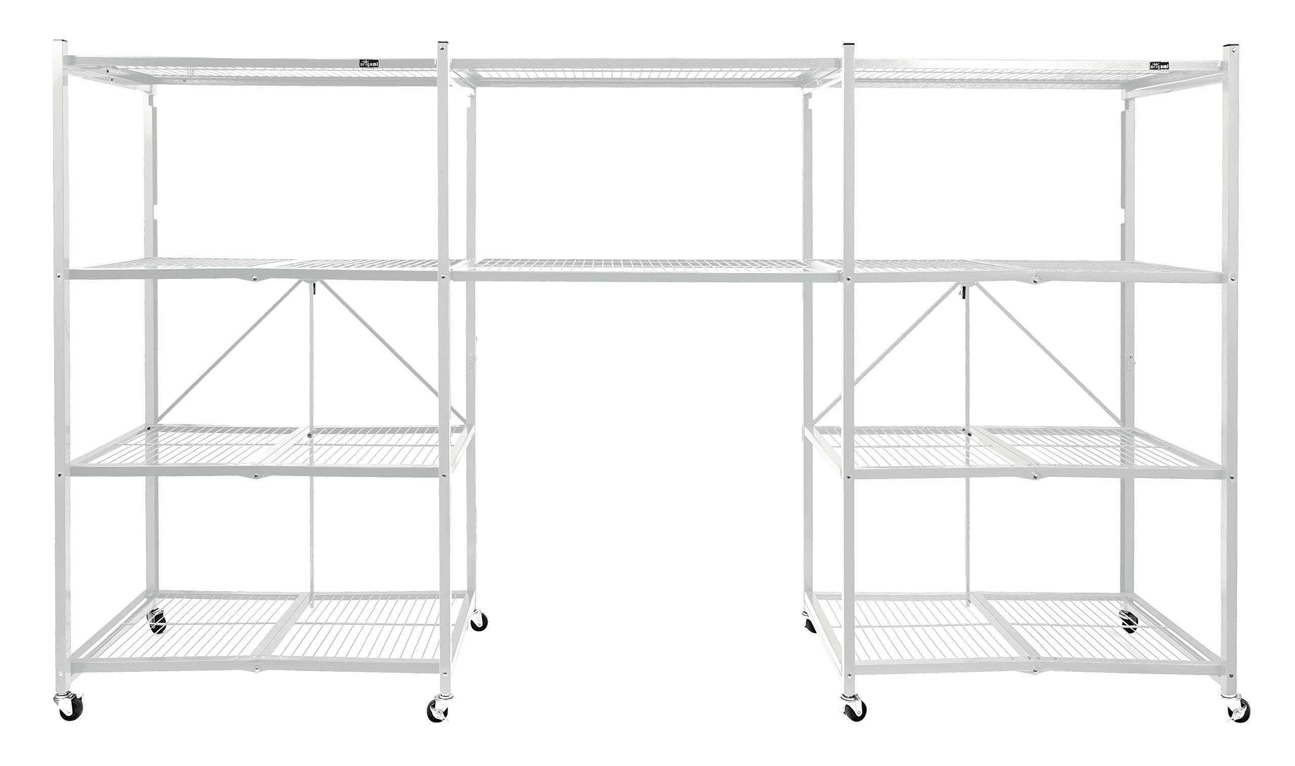 Origami Connection Bridge Racks for 4-Shelf Large Storage Rack (2 Pack) - White