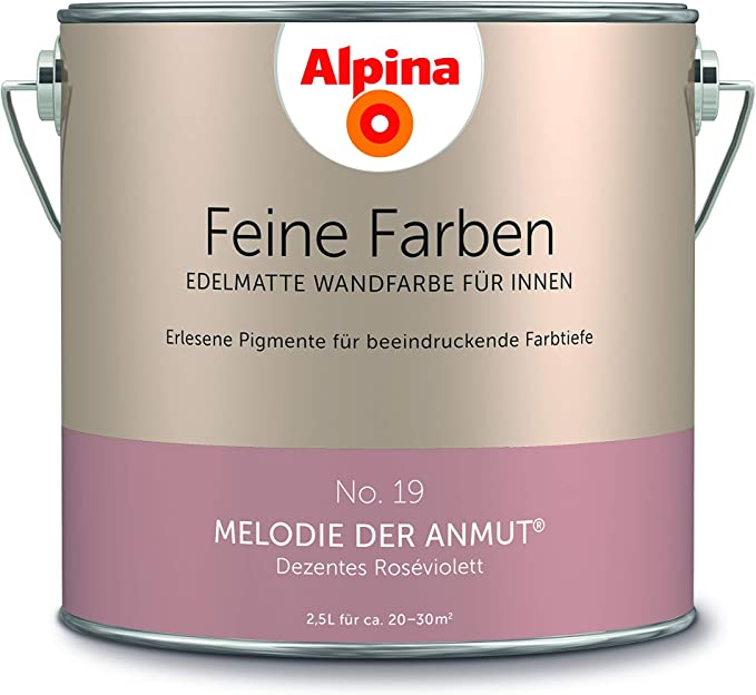 Alpina 2 5 L Feine Farben Farbwahl Edelmatte Wandfarbe Fur Innen No 19 Melodie Der Anmut Dezen Amazon De Baumarkt