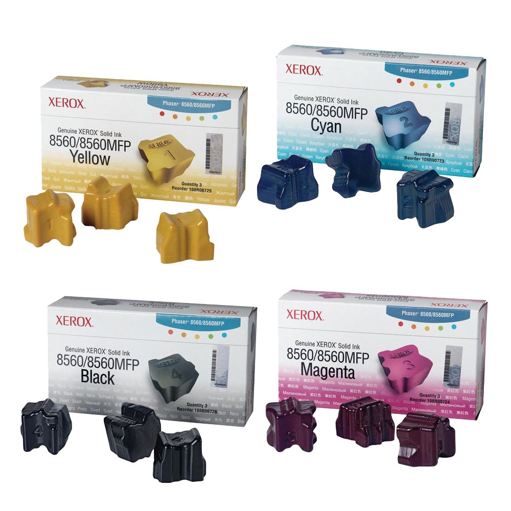 Xerox 108R00726,108R00723,108R00724,108R00725 Ink Cartridge Set by Xerox B00X4P27LI