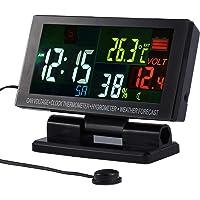 Termómetro Coche Digital Termometro Higrómetro Electronico LCD Colorido