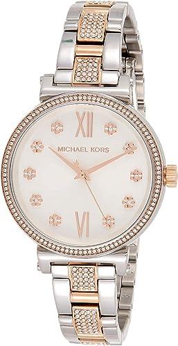 Michael Kors Women's Sofie Quartz Stainless Steel Strap, Silver, 14 Casual Watch (Model: MK3880)