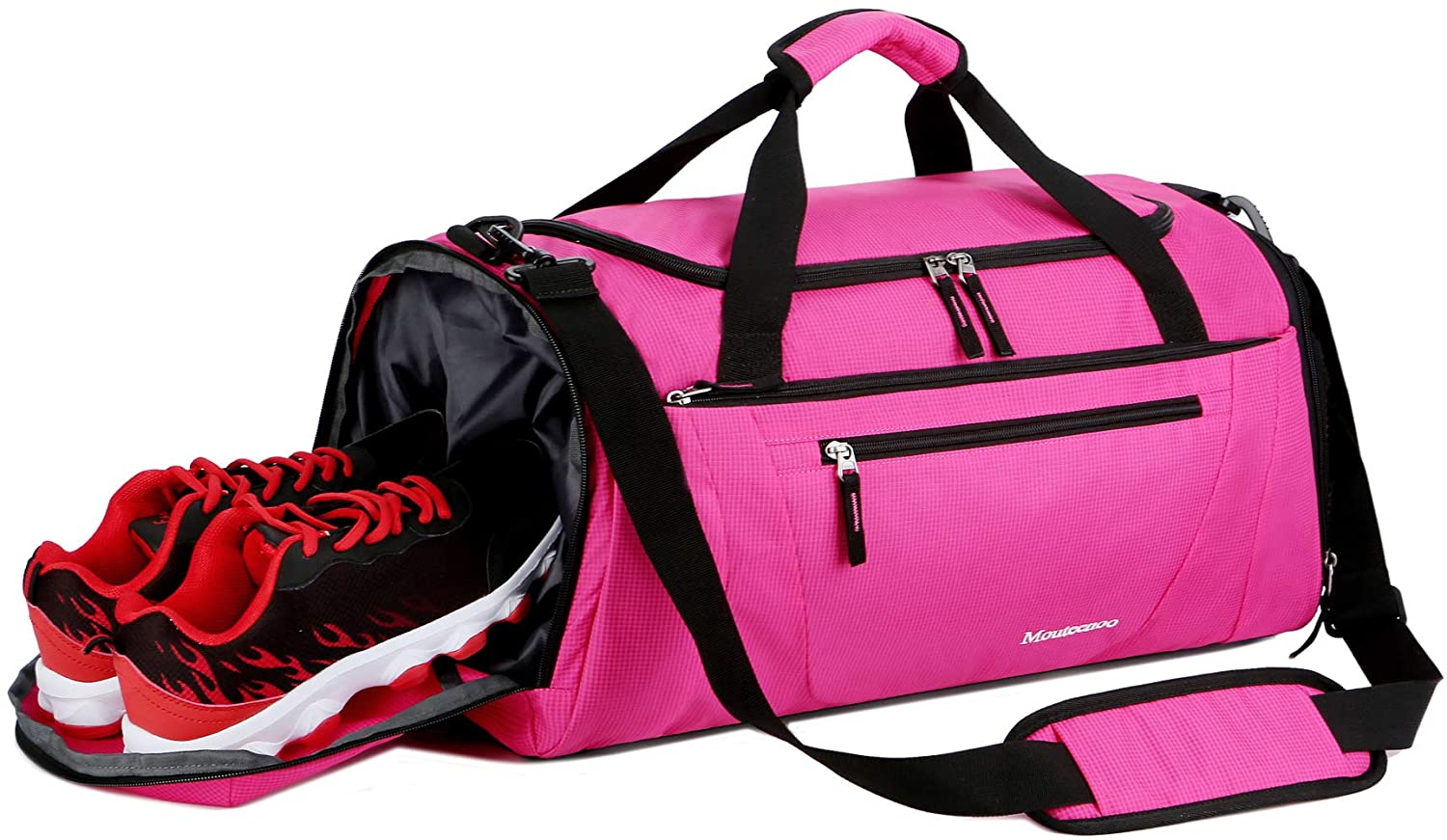 a58ada6ac64 Mouteenoo Gym Bag 40L Sports Travel Duffel for Men and Women with ...
