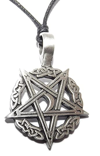 Inverted celtic moon pentagram pentacle pendant necklace amazon inverted celtic moon pentagram pentacle pendant necklace aloadofball Choice Image