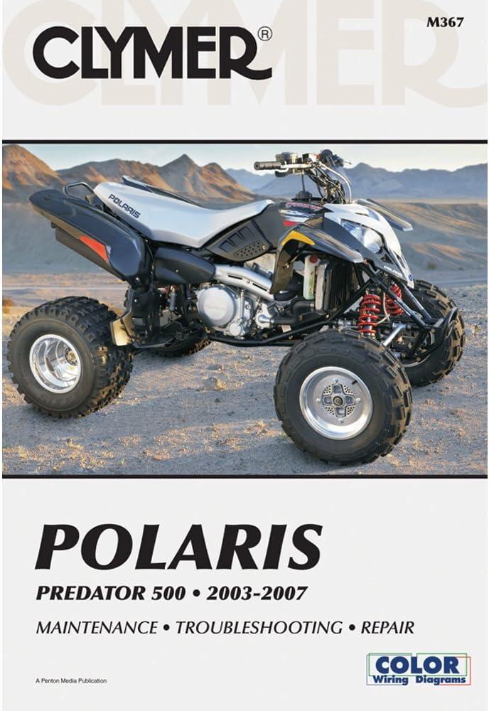 Amazon.com: 2003-2007 POLARIS PREDATOR 500 POLARIS PREDATOR MANUAL,  Manufacturer: CLYMER, Manufacturer Part Number: M367-AD, Stock Photo -  Actual parts may vary.: AutomotiveAmazon.com