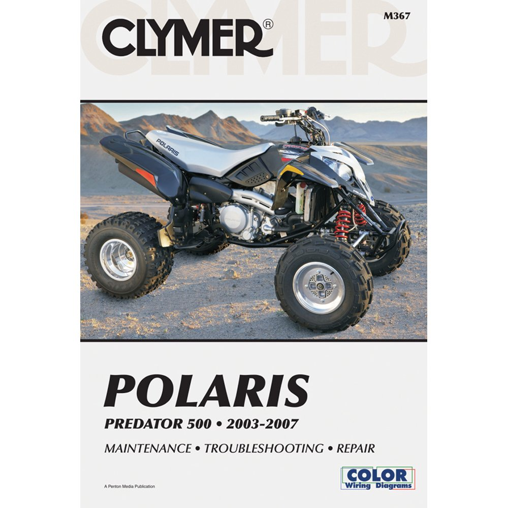 Amazon.com: 2003-2007 CLYMER POLARIS ATV PREDATOR 500 SERVICE MANUAL NEW  M367: Manufacturer: Automotive