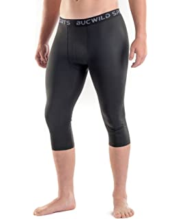 84812f0b4acdc Bucwild Sports 3/4 Basketball Compression Pants Tights for Youth Boys & Men