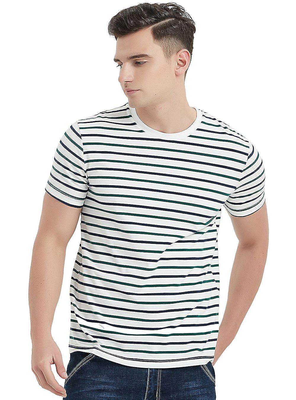 Navy & Green Stripes