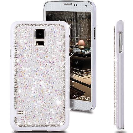 Amazon.com: Galaxy S5 Caso, ikasus brillante Sparkle Bling ...