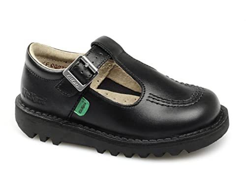 0feb8d77 Zapatos de piel para niñas Kickers, modelo Kick T I Core, color negro,  ideales para el colegio: Amazon.es: Zapatos y complementos